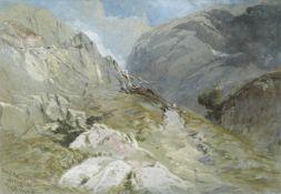 Thomas Miles Richardson Jnr., R.W.S. (British, 1813-1890) 'Great End, Borrowdale'