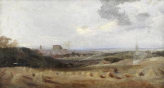 Peter De Wint, OWS (British, 1784-1849) Harvest landscape