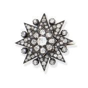 DIAMOND-SET STAR BROOCH,