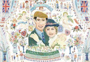 Fred Yates (British, 1922-2008) Charles and Diana