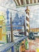 John Bratby R.A. (British, 1928-1992) Venice, with View of San Giorgio Maggiore