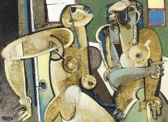 Geoffrey Key (British, born 1941) Figure Entering a Room