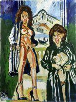 John Bratby R.A. (British, 1928-1992) Patti in Venice (unframed)