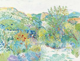 Fred Yates (British, 1922-2008) The Artist's Home, Lafare, Provence