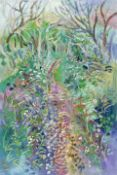 Fred Yates (British, 1922-2008) Woodland in Bloom (unframed)