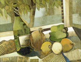 Geoffrey Key (British, born 1941) Still Life With Bottle III
