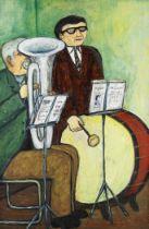 Alan Lowndes (British, 1921-1978) At Band Practice
