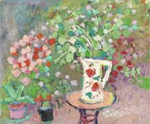 Fred Yates (British, 1922-2008) Jug and Plants (unframed)