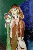 John Bratby R.A. (British, 1928-1992) The Meter Maid