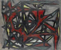 William Gear R.A. (British, 1915-1997) Landscape, Black and Red