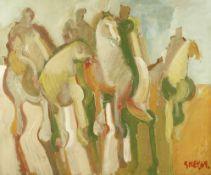 Geoffrey Key (British, born 1941) Riders