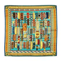 'Colliers de Chiens' Silk Scarf, Hermès,