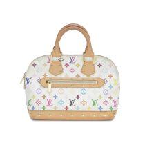 White Multi-Coloured Alma Bag, Louis Vuitton and Takashi Murakami, c. 2003, (Includes dust bag)