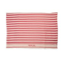 Red and White Striped Cotton Scarf, Christian Dior, (Includes original tag)