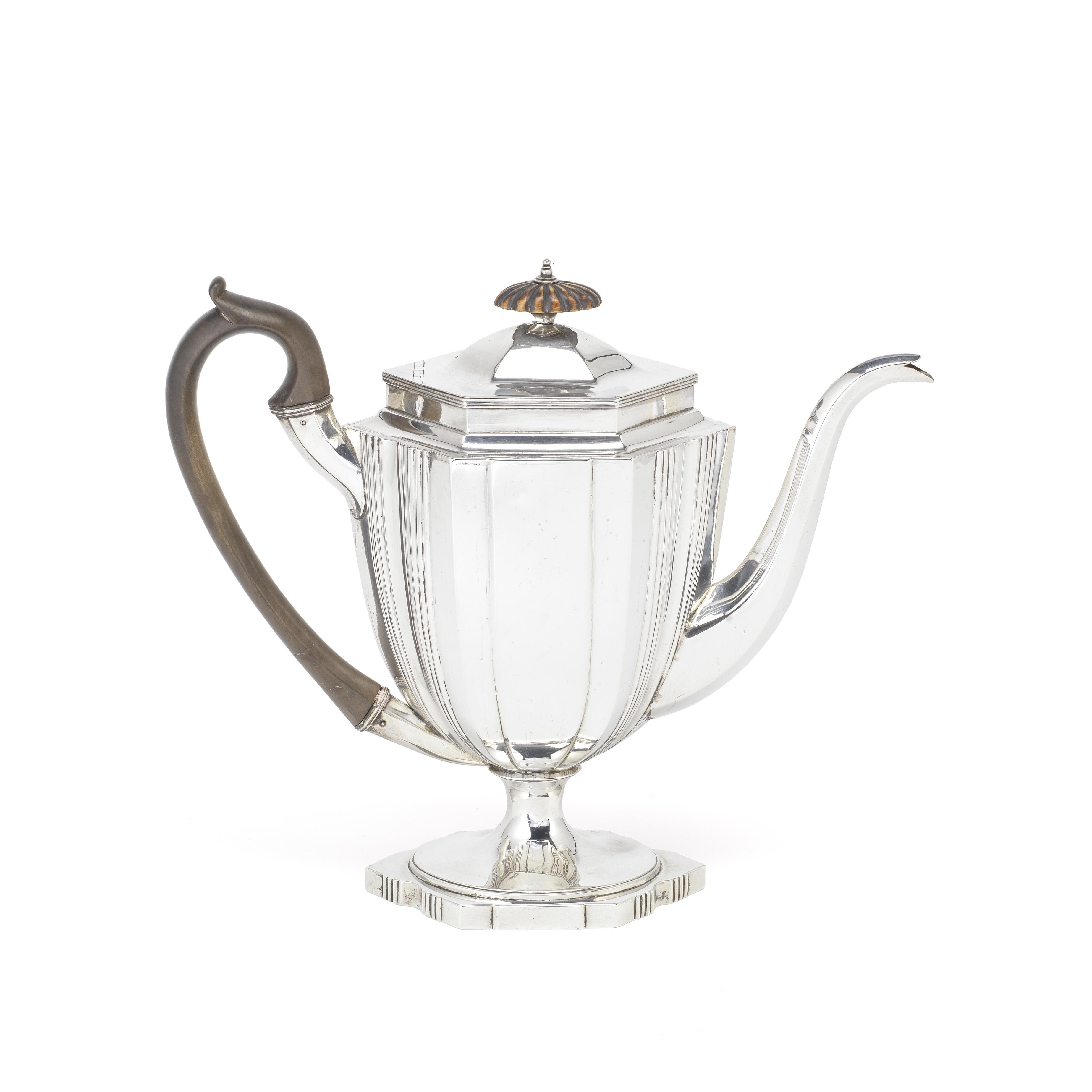 A George III Scottish silver coffee pot George McHattie, Edinburgh 1807