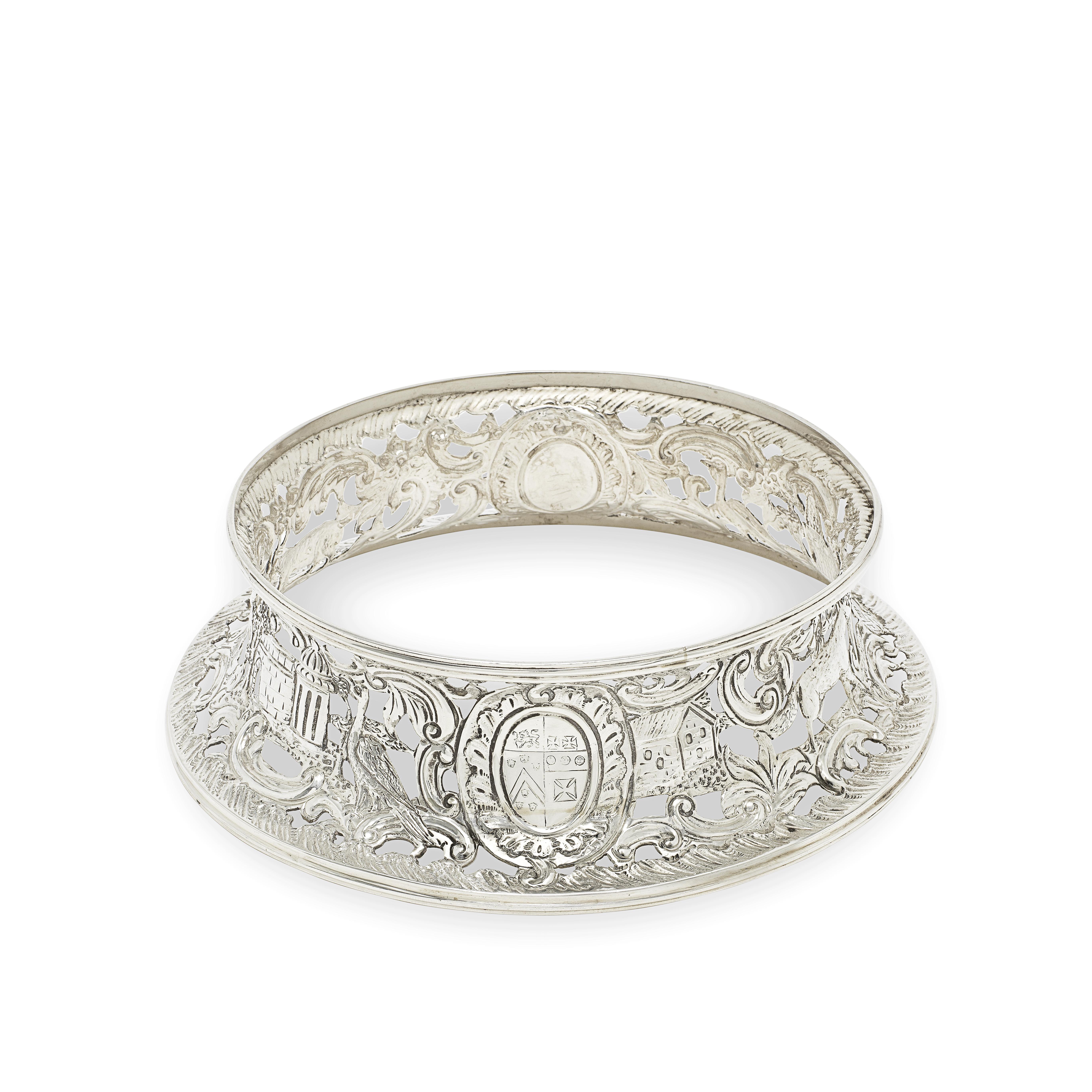 A George III Irish silver dish ring Richard Williams, Dublin 1771