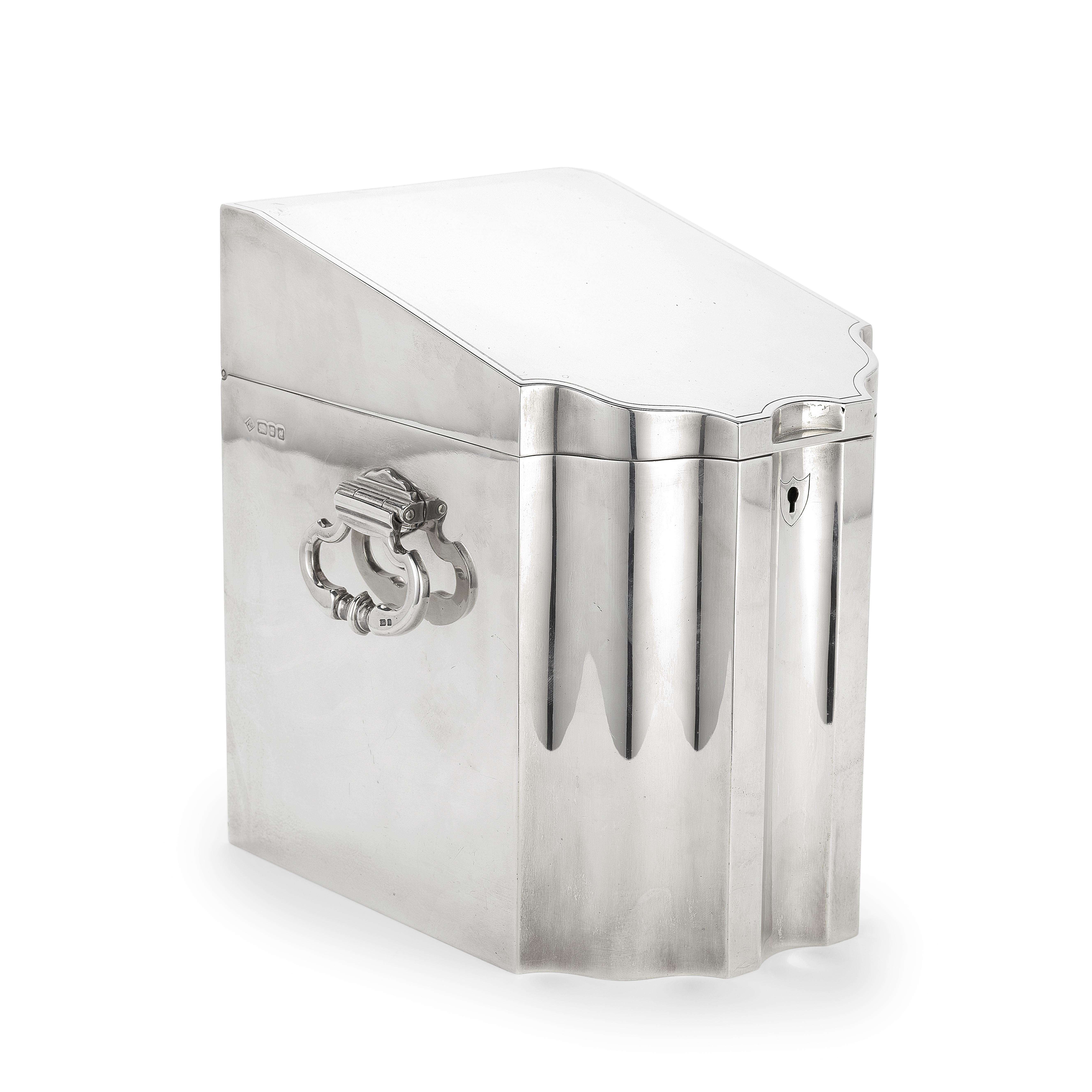 DUNHILL: a rare silver humidor Alfred Dunhill, London 1959