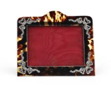 A Victorian silver-mounted tortoiseshell photograph frame Harry Adelstein, London 1899