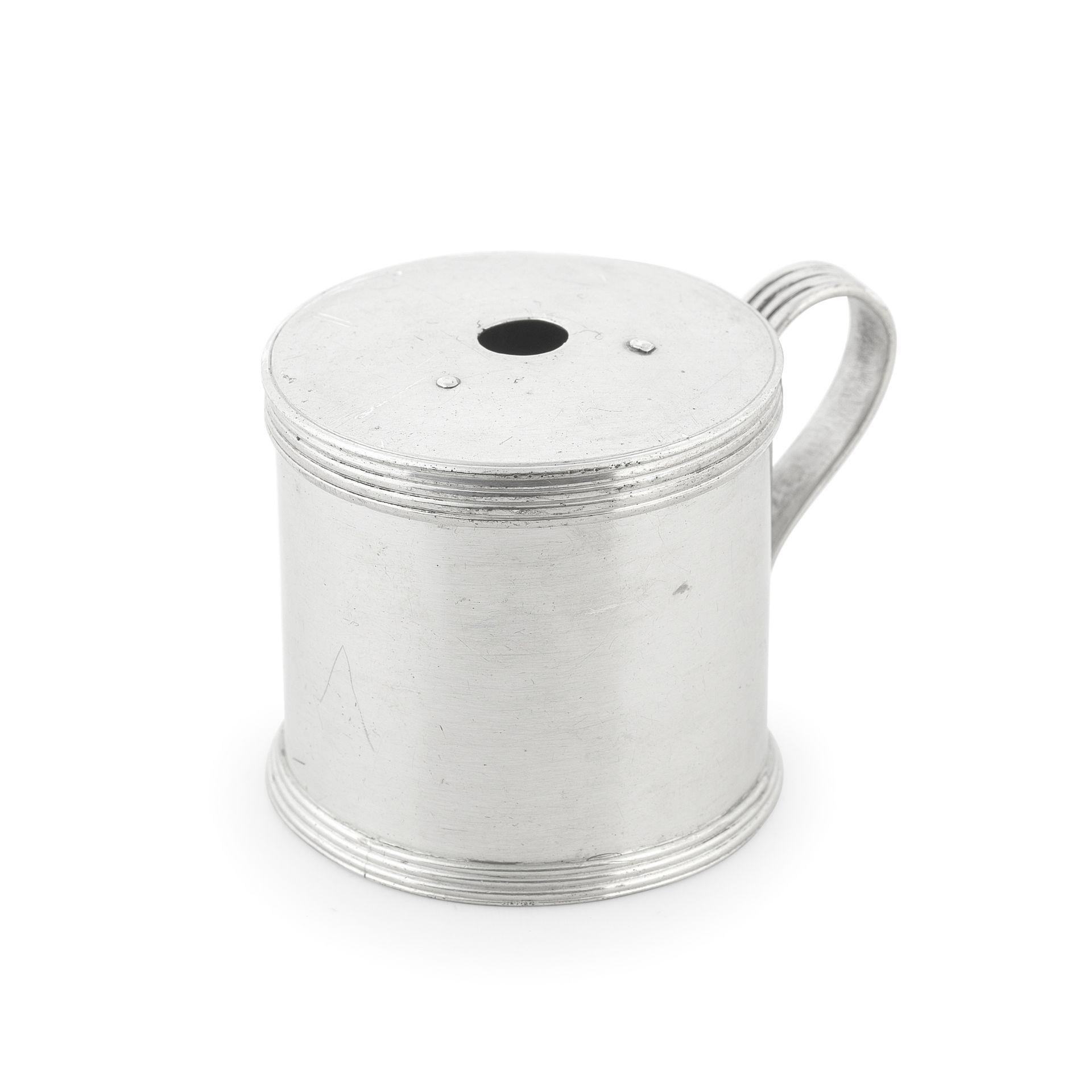 A George III silver bougie box maker's mark 'TL', London 1787