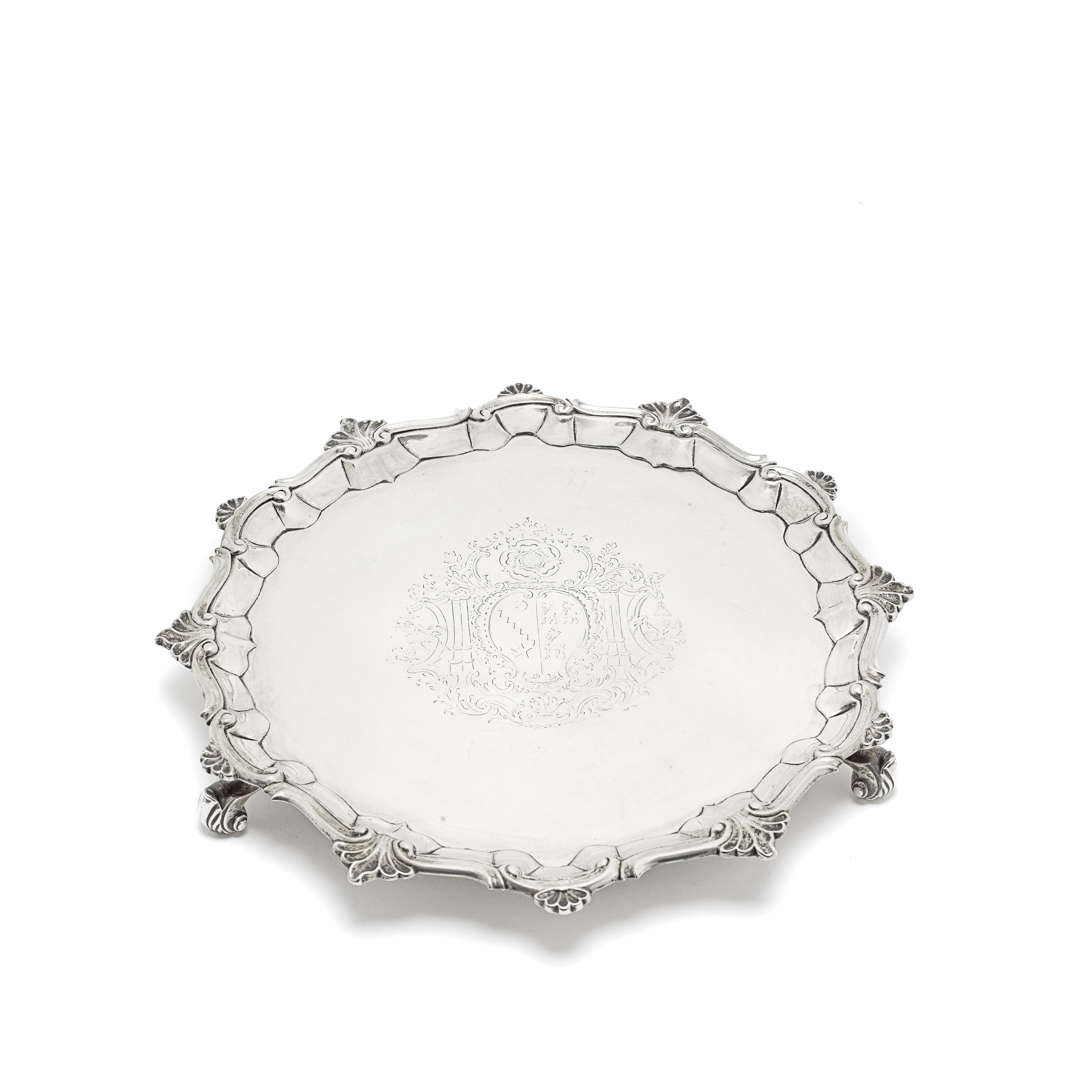 A George II silver salver William Peaston, London 1752