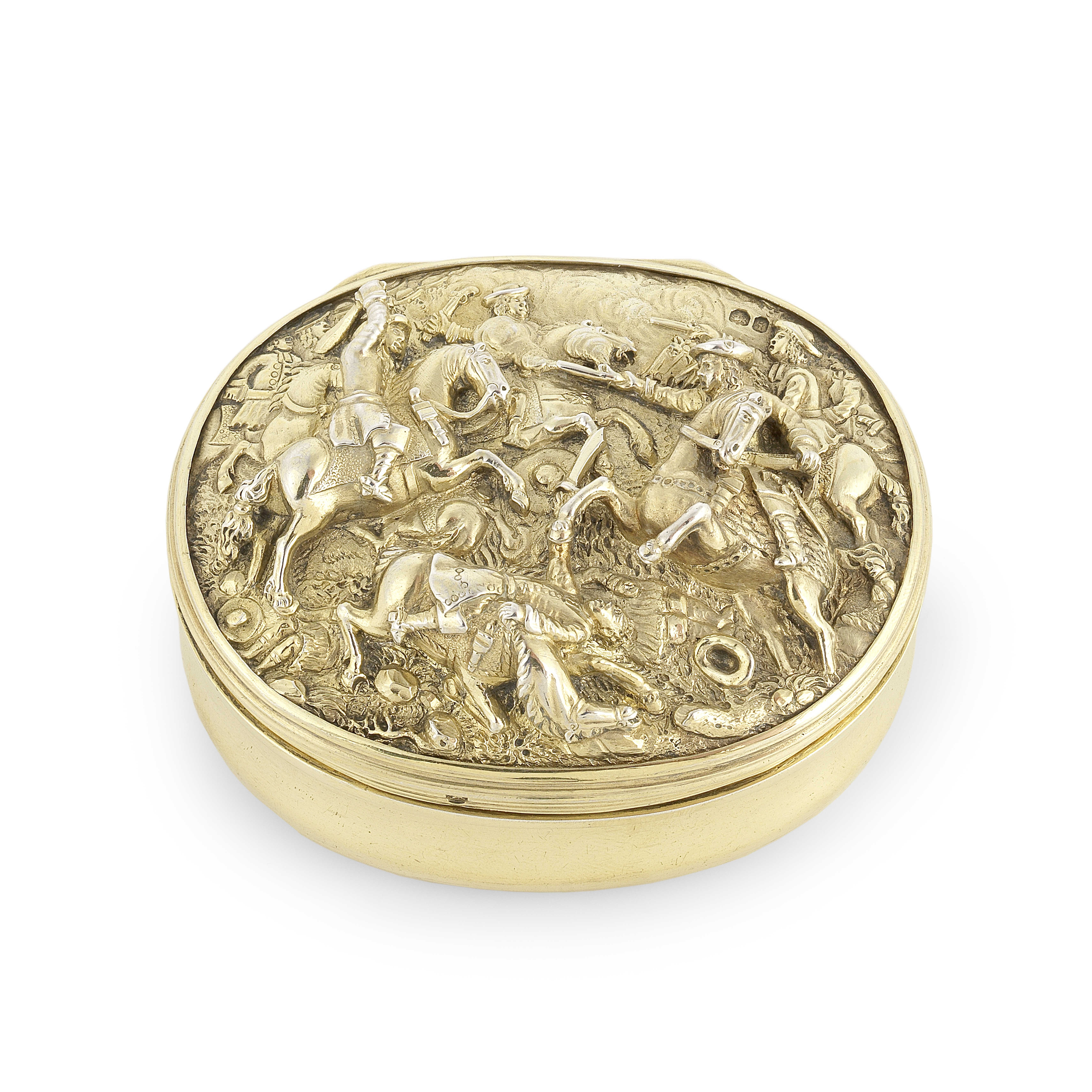 A George IV silver-gilt snuff box Edward Farrell, London 1824