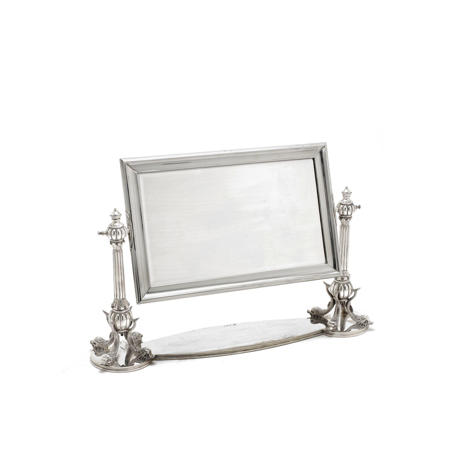 A silver dressing table mirror Sanders & Mackenzie, Birmingham 1926