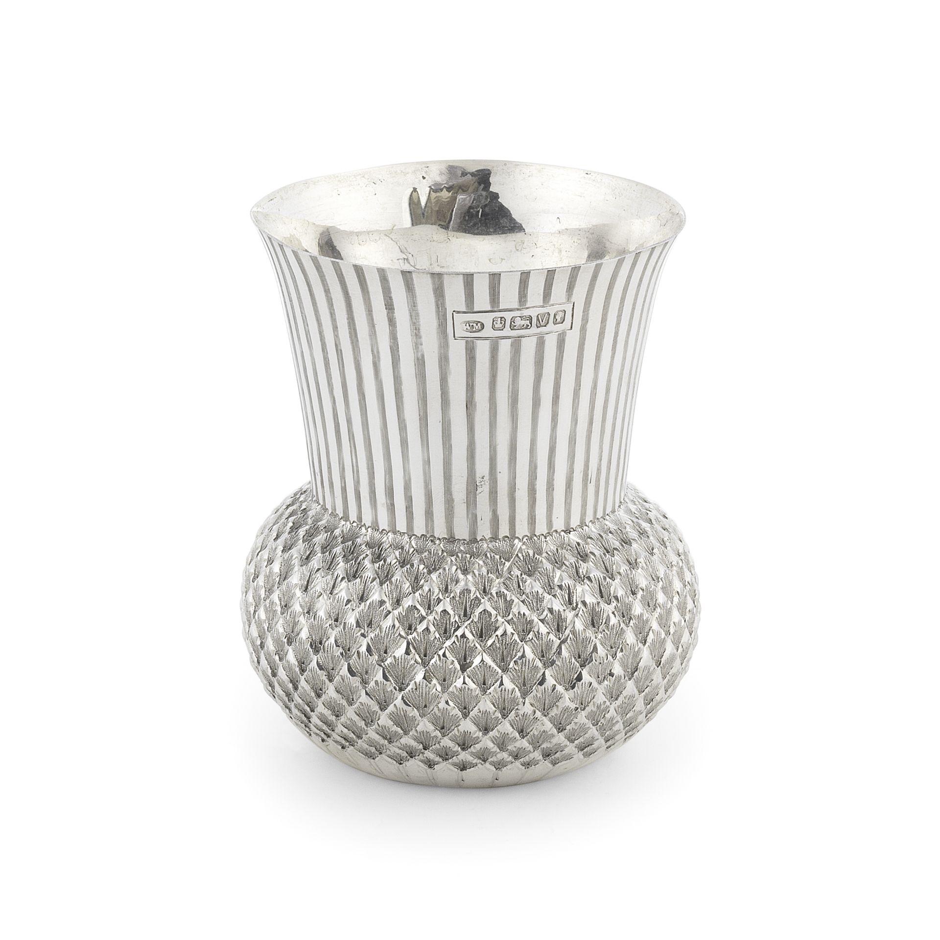 A Victorian novelty silver beaker William Mammatt, Sheffield 1888