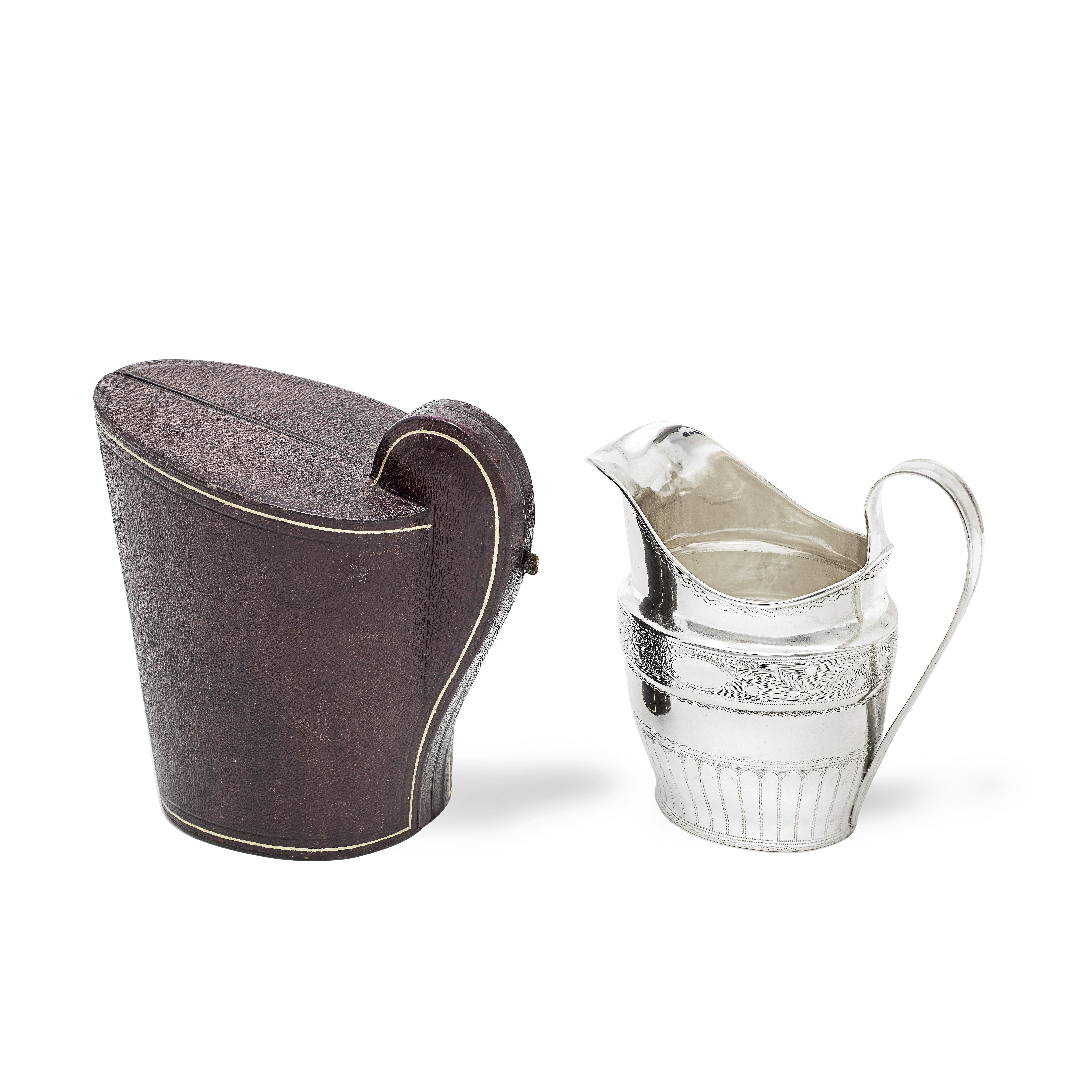 An Irish provincial silver milk jug incuse maker's mark SG and incuse STIRLING, Samuel Green of C...