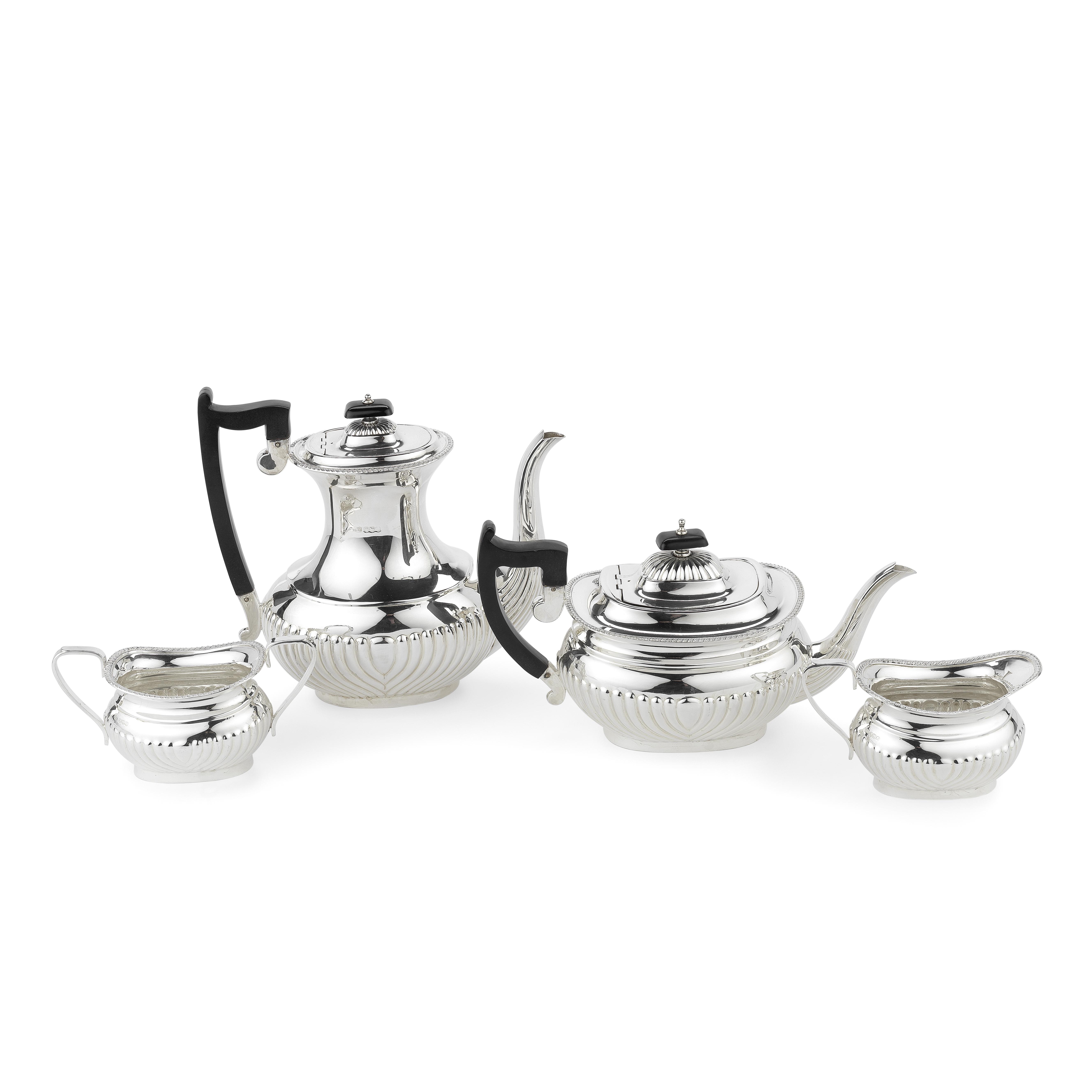 A silver four-piece tea and coffee service E Viner, Sheffield 1967 / 1968 (4)
