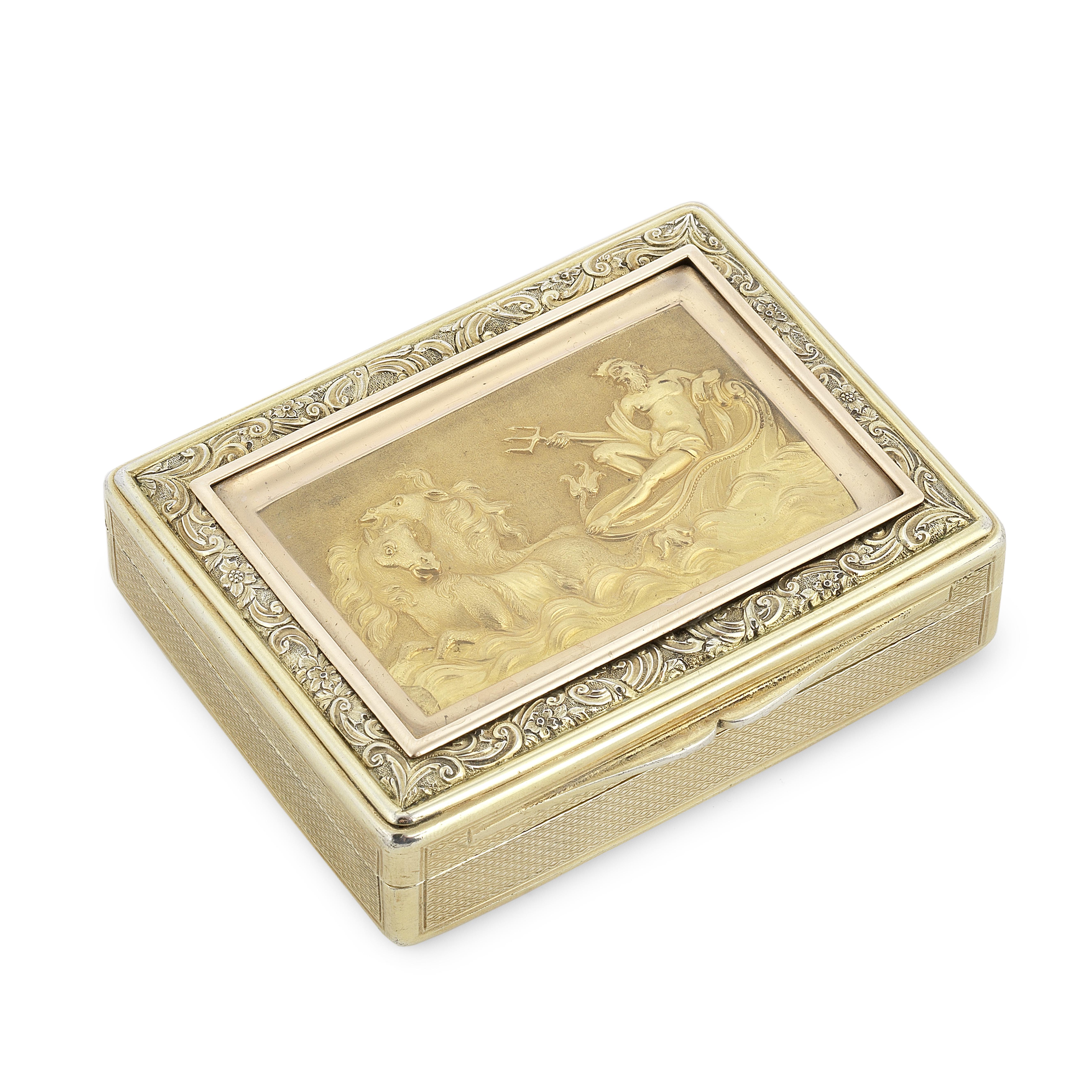 A George III silver-gilt snuff box Daniel Hockly, London 1813