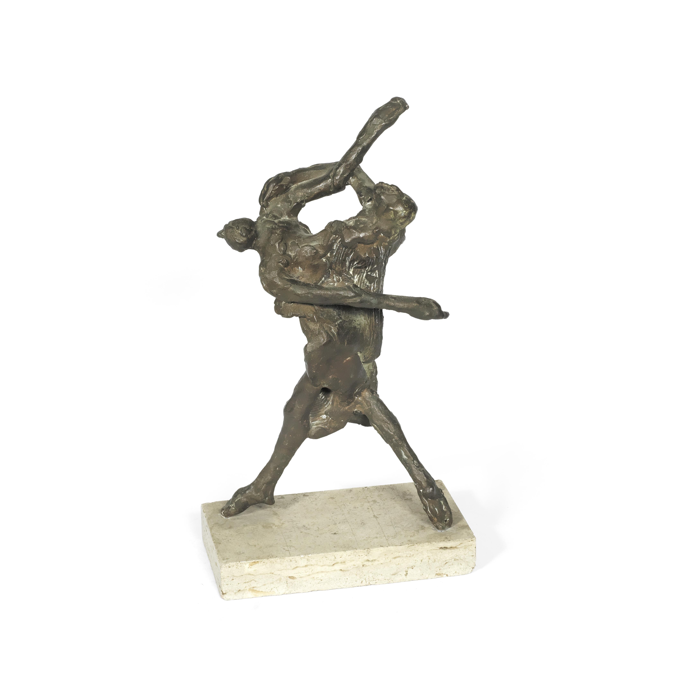 Jack Zajac (American, b. 1929): A bronze figural group, probably 'Metamorphosis Rome 4X,'
