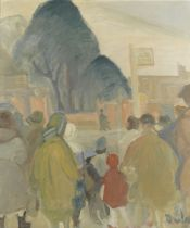 Ronald Ossory Dunlop R.A., R.B.A. (British, 1894-1973) The bus stop
