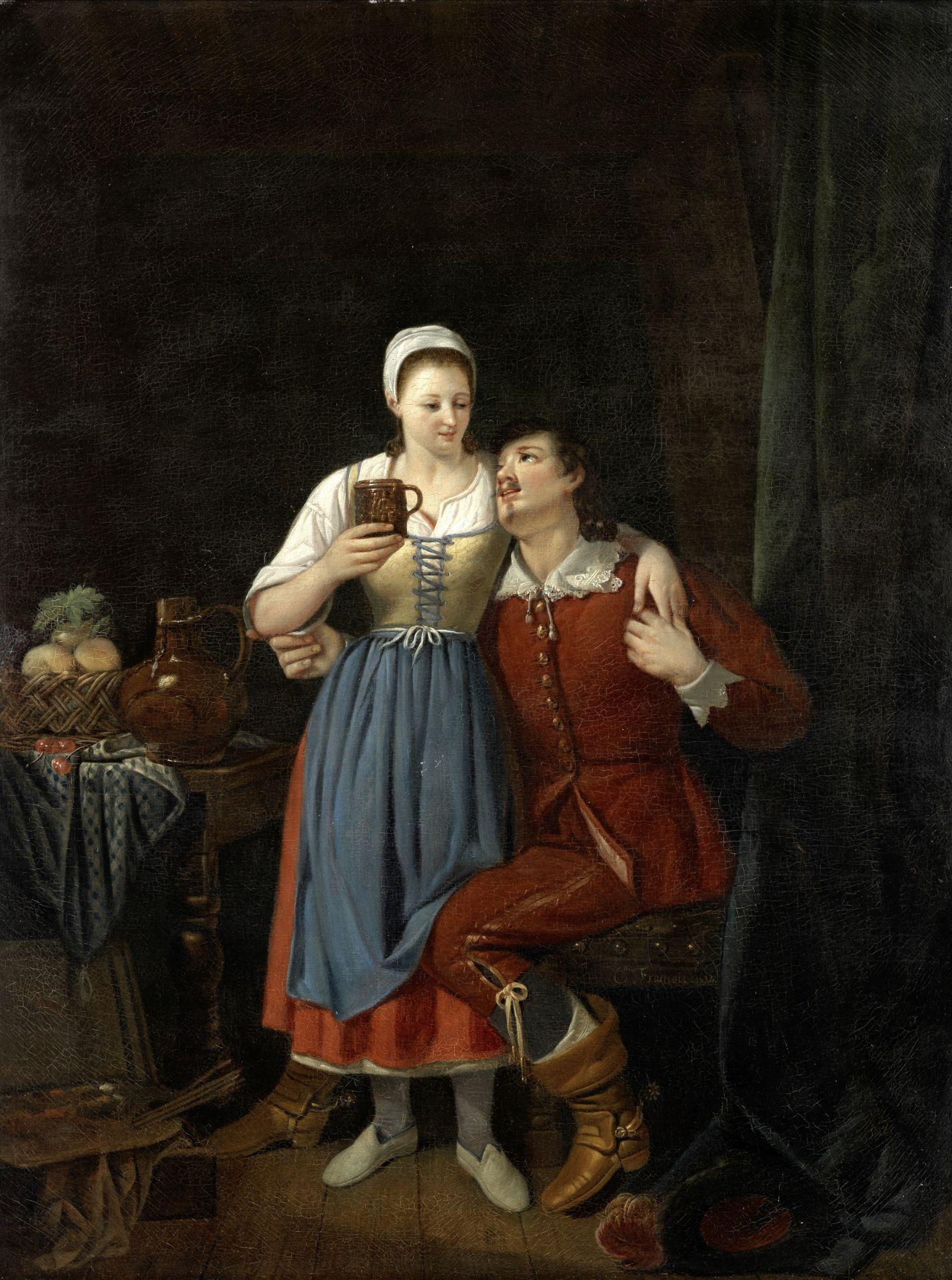 Célestin Francois (Belgian, 1787-1846) Tavern scene