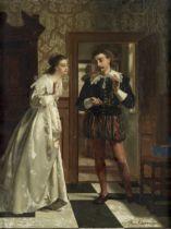 Frans Moormans (Dutch, 1832-1893) The wedding gift