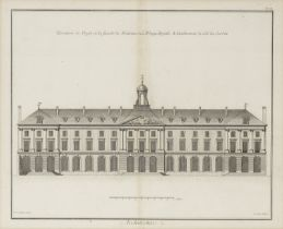 After Colen Campbell A set of 12 architectural engravings of British Houses from The Vitruvius Br...