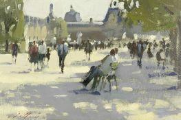 Paul Rafferty (born 1965) 'In the Shade, Tuileries Gardens'