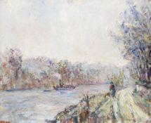 Paul Kron (French, 1869-1936) Le chemin de la rivière