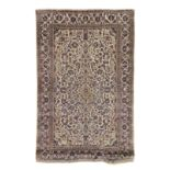A silk Kashan souf carpetc.1900