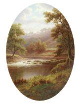 William Mellor (British, 1851-1931) River landscapes, a pair each 39.7 x 27.6cm (15 5/8 x 10 7/8i...