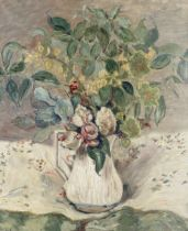 Attributed to Valentine Synave Nicolaud (Fray) Val (Belgian, 1870-1943) Pichet de fleurs