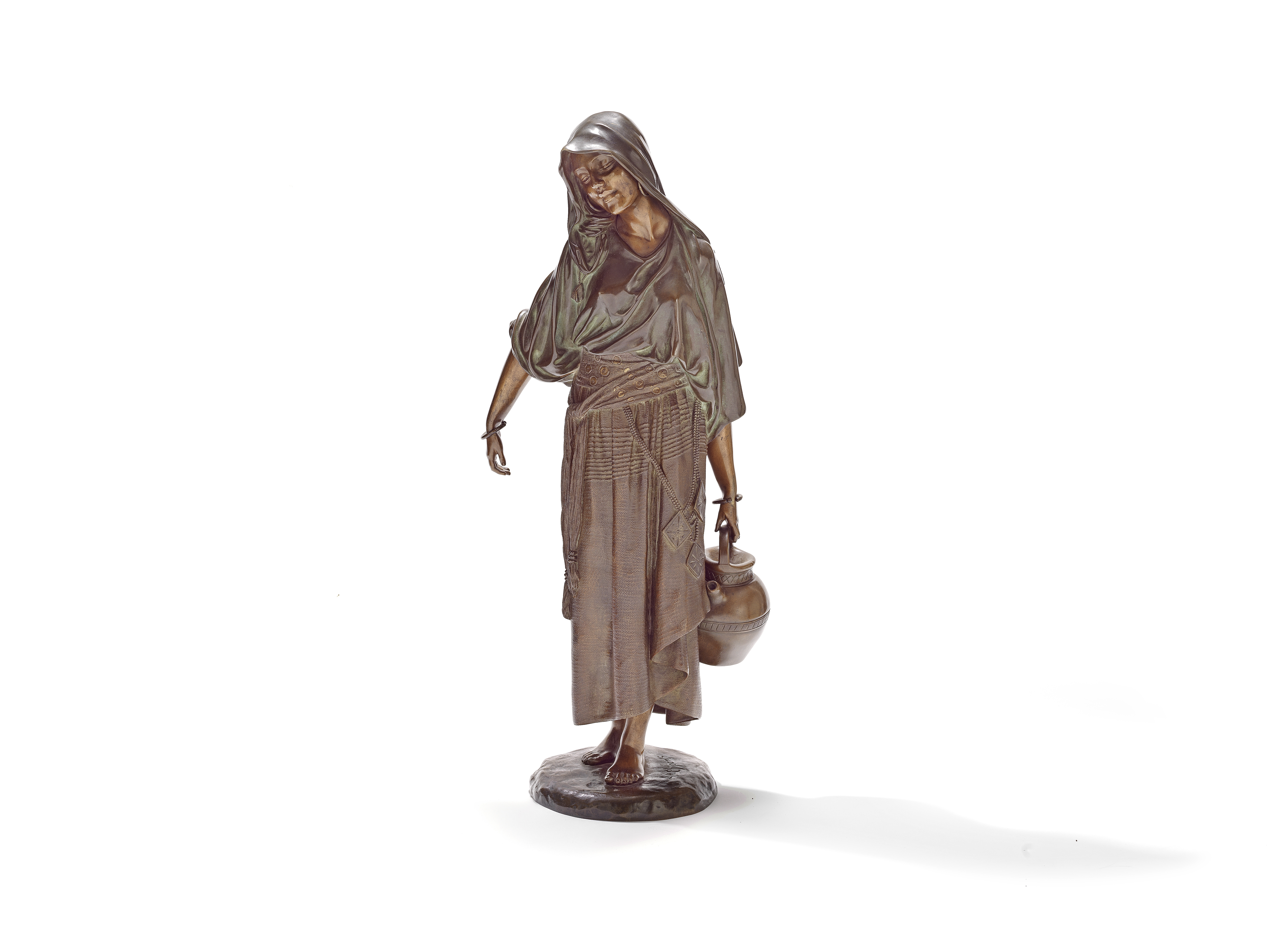 Demetre Chiparus (Romanian, 1886-1947): A patinated bronze figure of a Water carrier circa 1920