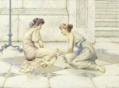 William Anstey Dolland (British, 1858-1929) The game