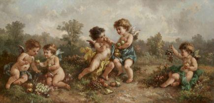 Charles Augustus Henry Lutyens (British, 1829-1915) Cherubs tasting fruit