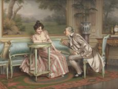 Vittorio Reggianini (Italian, 1858-1939) Conversazione in salotto