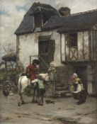 Pierre Outin (French, 1840-1899) Welcome refreshment