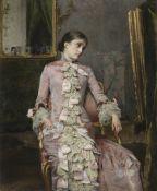 Rogelio de Egusquiza (Spanish, 1845-1915) Lady in pink