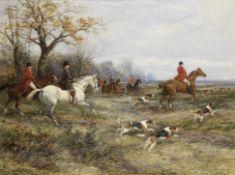 Heywood Hardy (British, 1843-1933) In full cry