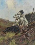 Arthur Wardle, RI (British, 1864-1949) English Setters