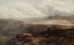 William Barr (British, 1867-1933) On the moors