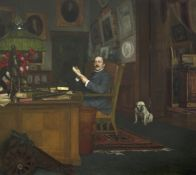 Ludwig Noster (German, 1859-1910) Portrait of Privy Councillor of Commerce Freidrich Alfred Krupp...